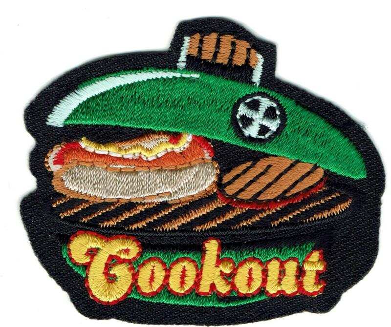 Girl Boy Cub COOKOUT BBQ  party Dinner Fun Patches Crests Badges SCOUTS GUIDE