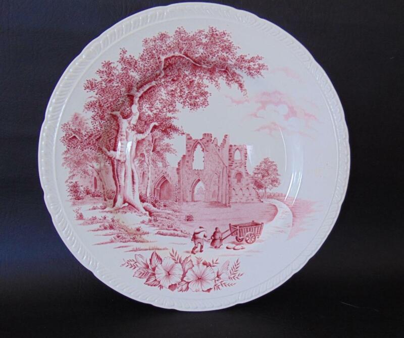 Barker Bros WALTHAM Red Old Abbey Scene Dinner Plate