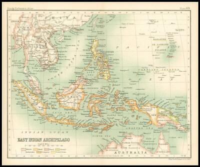 c1912 Map of EAST INDIAN ARCHIPELAGO Chart Regions (BS73)