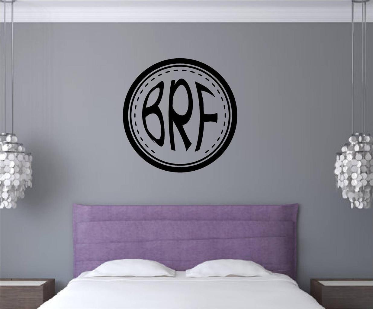 Custom Circle Monogam Letters Vinyl Decal Wall Decor Stickers Teen Room  Decor