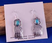 Native American Silver Turquoise Earrings
