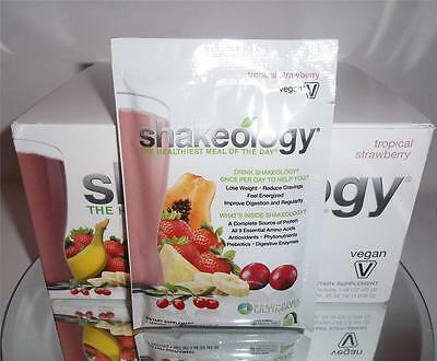 (Shakeology TROPICAL STRAWBERRY VEGAN Protein Shake Mix Powder 1 Single Packet)