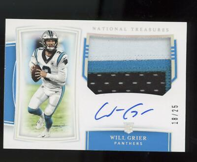 2019 National Treasures RPA Silver #169 Will Grier 18/25 Auto 3C Patch RC Rookie