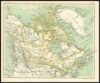 c1912 Map of the DOMINION OF CANADA Chart Regions (BS56)