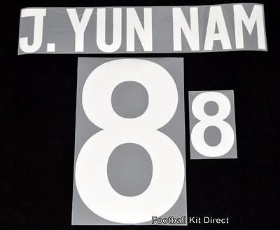 North Korea J. Yun Nam 8 2014 Football Shirt Name Set Home image