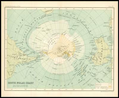 c1912 Map of the SOUTH POLE POLAR Chart Regions (BS7)