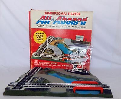American Flyer 26151 All Aboard Scenic Crossover Panel Boxed Pikemaster Clean S