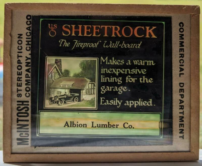 ALBION LUMBER Co US SHEETROCK FIREPROOF WALLBOARD VINTAGE PHOTO AD architecture
