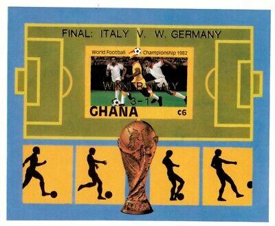 Ghana 1983 - SC# 834 World Football Championship, Soccer - Imperf S/S OVPT - MNH