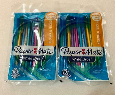 2 Packs Paper Mate Mechanical Pencil 10 Ct. 0.7mm Hb 2 Assorted Colors