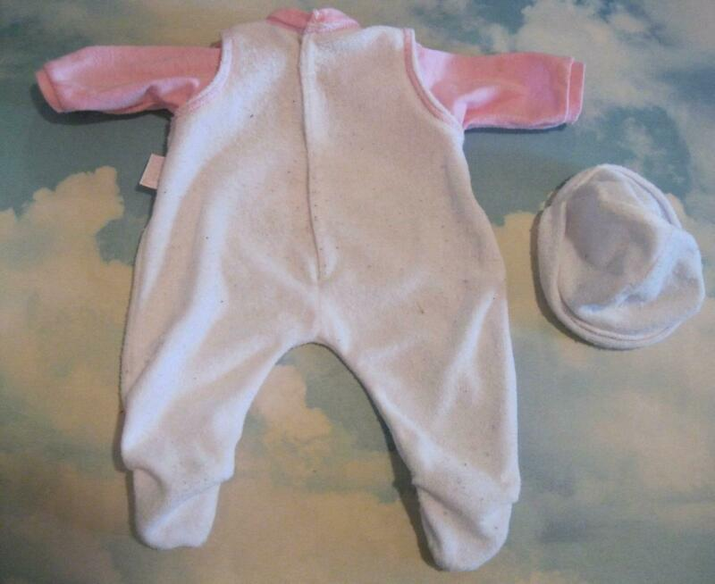 Baby Annabell Anna Belle Born Zapf Creations Doll-PAJAMA PJS OUFIT AND HAT CLOTH