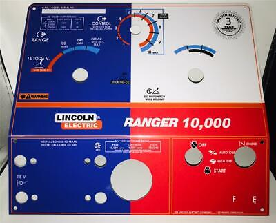 Lincoln Arc Welders Ranger 10000 Part L-10183-3 Texas Flag New Control Plate