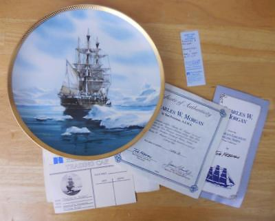 """America's Greatest Sailing Ships """"Charles W. Morgan"""" 9-1/4"""" Plate by Hamilton"""