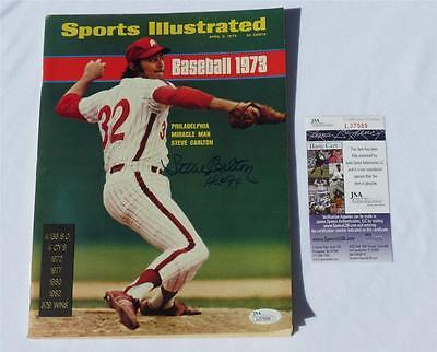 Steve Carlton HOF 94 Signed Sports Illustrated Magazine April 9, 1973 JSA COA