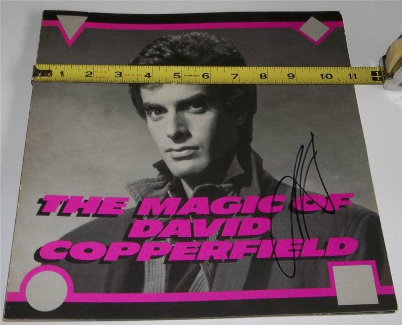 1989 The Magic Of David Copperfield Autographed Souvenir Program and Ticket