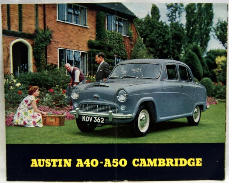 AUSTIN A40 - A50 CAMBRIDGE AUTOMOBILE ADVERTISING BROCHURE 1950s VINTAGE U.K.