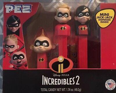 PEZ INCREDIBLES 2 Gift Box Set of 3  Dash,Violet,Jack-Jack (Dash Cartoon Character)