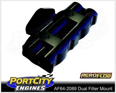 """Aeroflow Dual Billet Remote Oil Filter Head Side Entry 3/4"""" – 16 AF64-2089"""