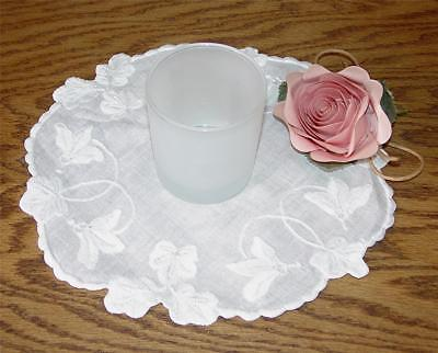 "VINTAGE 3"" TALL FROSTED GLASS TEA LIGHT/VOTIVE CANDLE HOLDER-EUC"