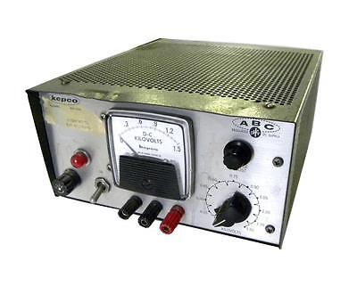 Kepco High Voltage Power Supply 0-1500vdc 10ma Max Model Abc1500m