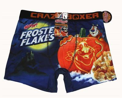 CRAZY BOXER Halloween Tony Tiger Frosted Flakes PUMPKIN Boxer Briefs Mns NWT