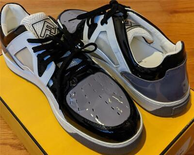 $850 Mens Authentic Fendi Fancy Colorblock Leather Sneakers White UK 9 US 10
