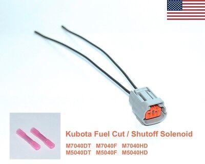 Kubota Fuel Shutoff Solenoid Plug M7040dt M7040f M7040hd M5040dt M5040f M5040hd