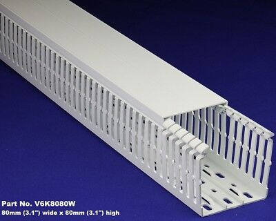 6 Sets - 3x3x2m White High Density Premium Wiring Ducts And Covers - Ulcecsa