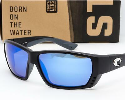 COSTA DEL MAR TUNA ALLEY SUNGLASSES Black/Blue Mirror 400G Glass Polarized (Costa Sunglasses Tuna Alley)