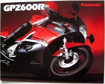 KAWASAKI GPZ600R Original Motorcycles Sales Brochure 1987 #99943-1541 ALL-E