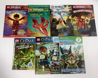 7 Lego Reader Books Lot Legends Of Chima Ninjago Dk Reader Graphic Novel Teacher