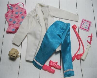 BARBIE doll PET VET Dr Doctor Nurse Clothes-CAREER OUTFIT/TOOLS LOT & puppy dog](Dog Nurse Outfit)