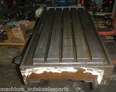 43 X 19.75 X 3 Steel Weld T-slotted Table Cast Iron Layout Plate 4 T Slot Jig
