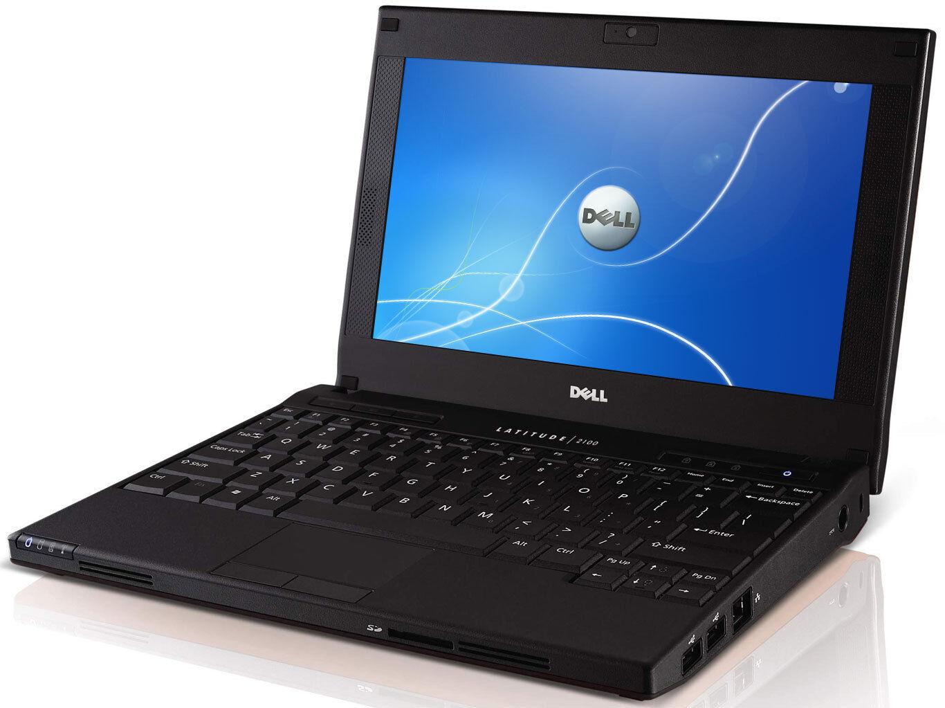 "10.1"" LCD DELL LATITUDE 2100 2110 2120 WINDOWS 10 LAPTOP + WEBCAM + AC ADAPTER"