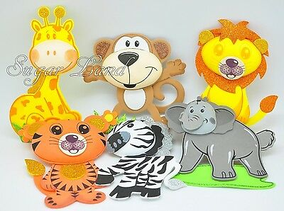Jungle Baby Shower Party Supplies (10 PCS Baby Shower Safari Jungle Decoration Foam Party Supplies Girl Boy)