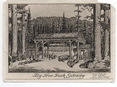 1920s Photo of SF Architect Drawing of Big Tree Park Gateway CA