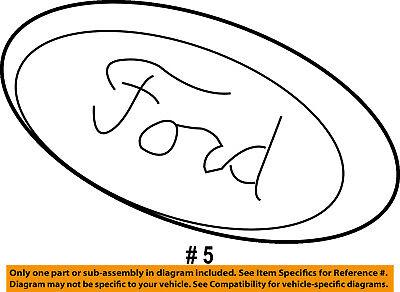 FORD OEM Escape Front Bumper Grille Grill-Emblem Badge Nameplate CJ5Z9942528G