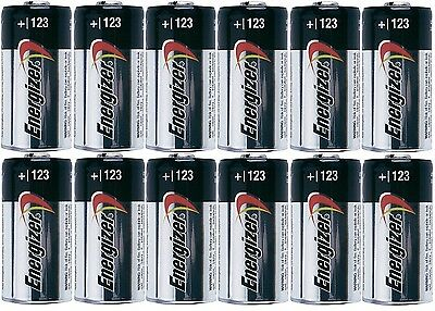 12 Energizer 3V Lithium Cr123a Batteries For Camera  Flashlight Etc