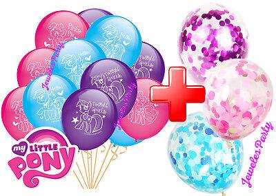 CONFETTI MLP MY LITTLE PONY BALLOON BALLOONS BIRTHDAY PARTY SUPPLY DECORATION