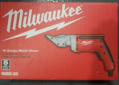 Milwaukee 6852-20 - 18-gauge Corded Metal Shear....new....