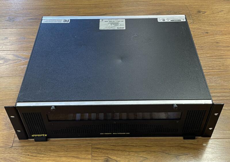 Evertz 7800FR 3RU Multi Frame for Fiber 3G HD SD 7700 Boards 2x PS
