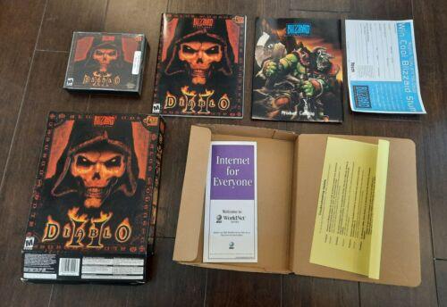 Computer Games - Diablo II 2 Blizzard Big Box PC Game Win 2000 98 95 Complete Computer game