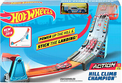 Hot Wheels Hill Climb Track Set Kid Toy Gift