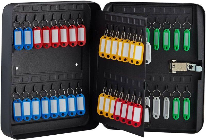 AdirOffice Key Cabinet With Lock - 60 Hooks & Tags Durable Heavy Duty Secured