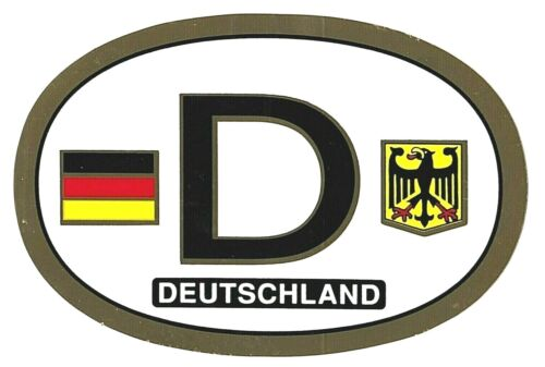 DEUTSCHLAND Oval D Car Decal GERMANY NEW