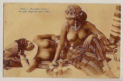 N Africa ARAB WOMEN Algeria ARABISCHE FREUNDINNEN * Vintage 1920s Ethnic Nude PC