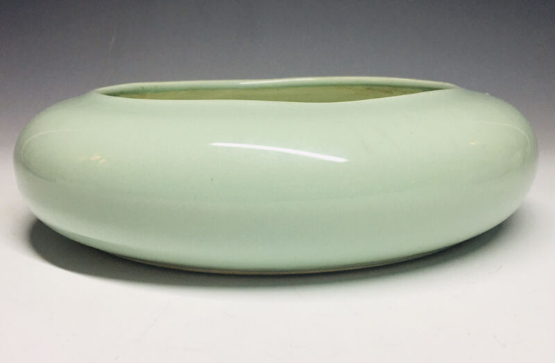 Green Chinese Celadon Longquan Crackle Brush Washer Stoneware Bowl Ming Qing