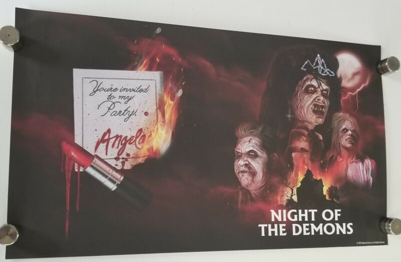 """Night of the Demons - SHOUT SCREAM FACTORY LITHOGRAPH 28.5"""" X 16.5"""" Poster rarr"""