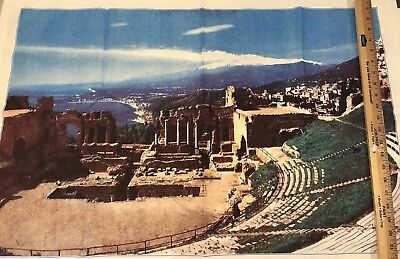 Taormina Amphitheater Ruins Fabric Print Wall Art Imported From -