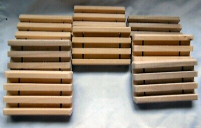 16 Wood Soap Dishes-Handmade-Small Wholesale Lot-Free Priority Shipping-Draining Wholesale Soap Dishes